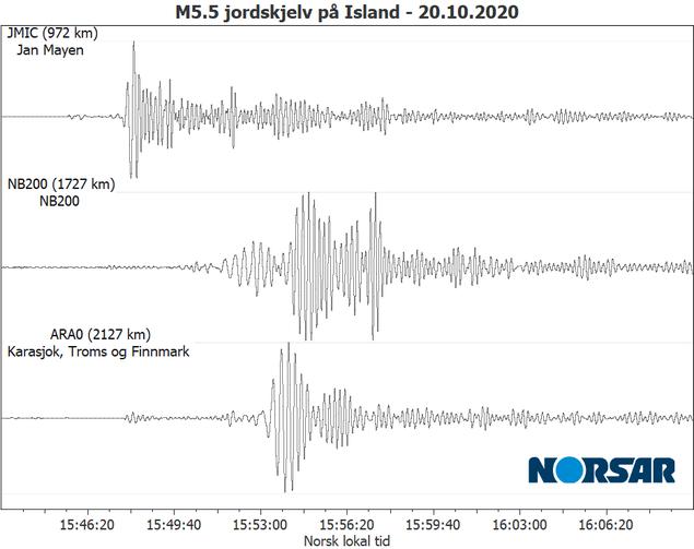 jordskjelv island okt 2020