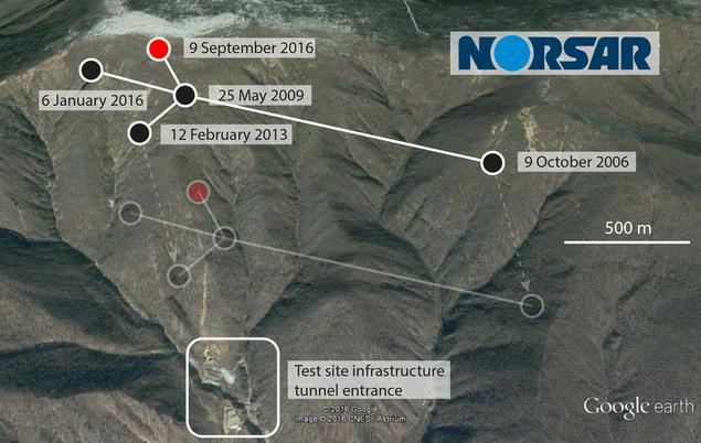 Nord Korea satelittbilde