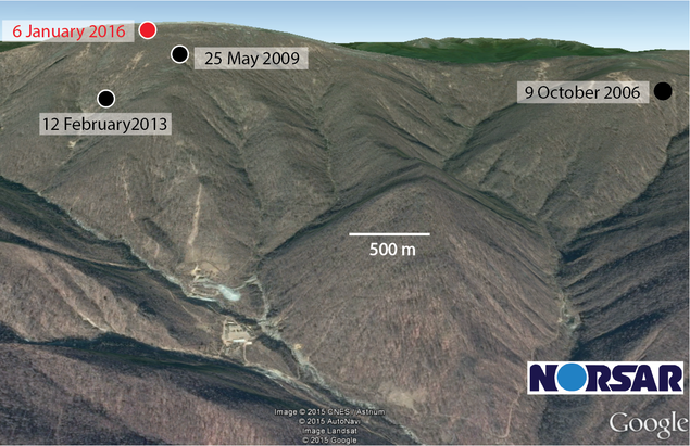Nord Korea test site