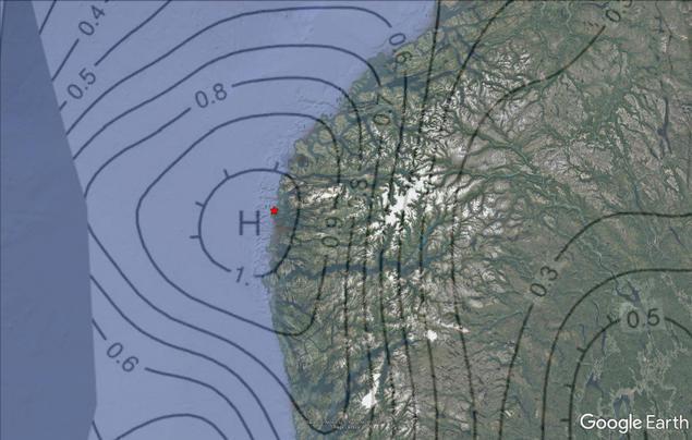 Norges soneringskart for berggrunnens aksellerasjon