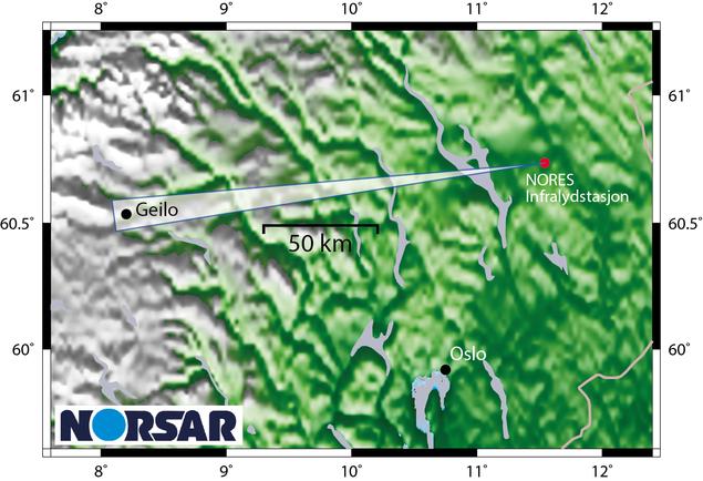 Kart over Geilo