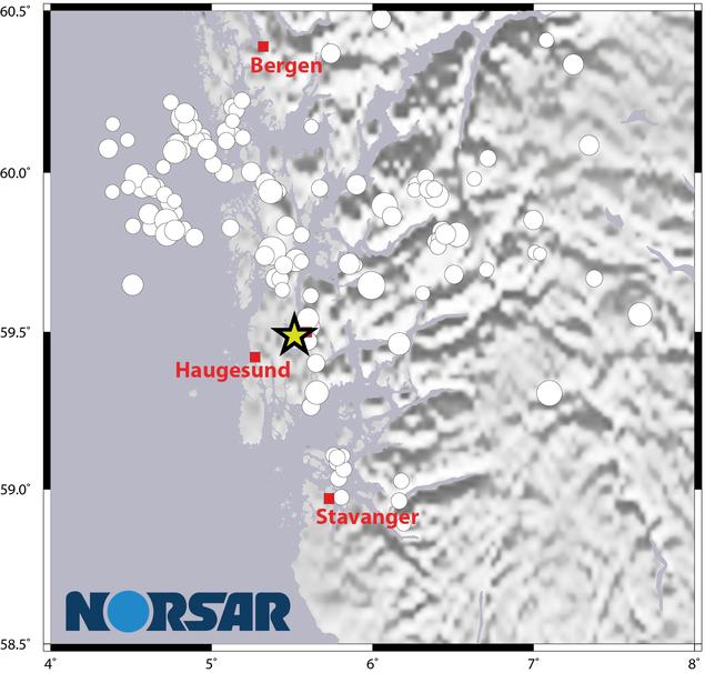 Jordskjelv i Haugeland 1992-2017