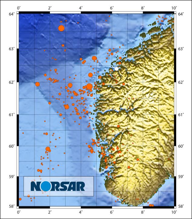 Ørsta jordskjelv map NORSAR