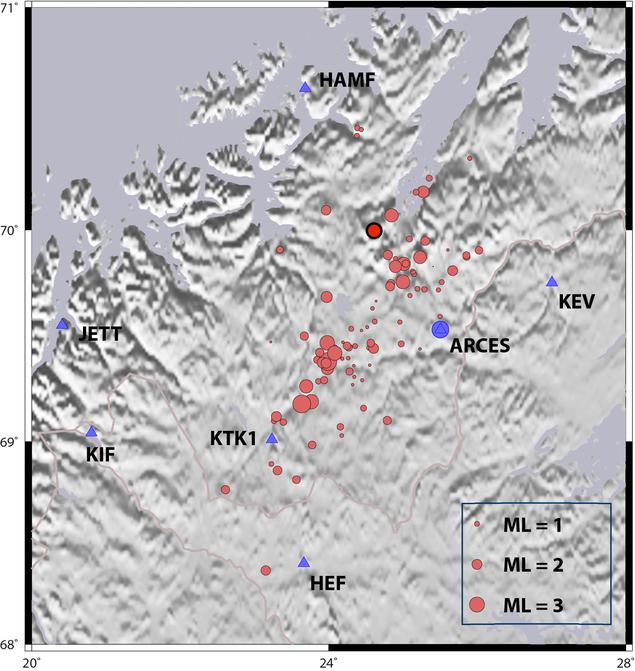 seismisk aktivitet i Finnmark
