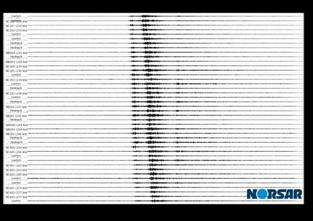 Signaler fra raset ved Veslemannen er observert på NORSAR arrayen