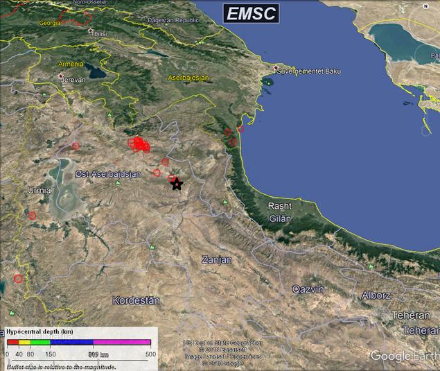 Sismisk aktivitet  Kaspisk