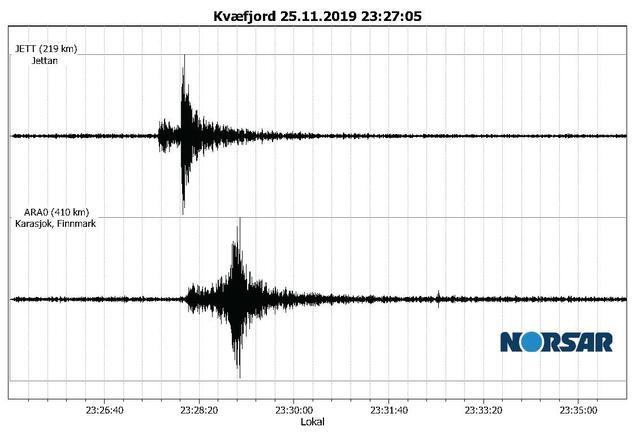 Jordskjelv i Kvæfjord