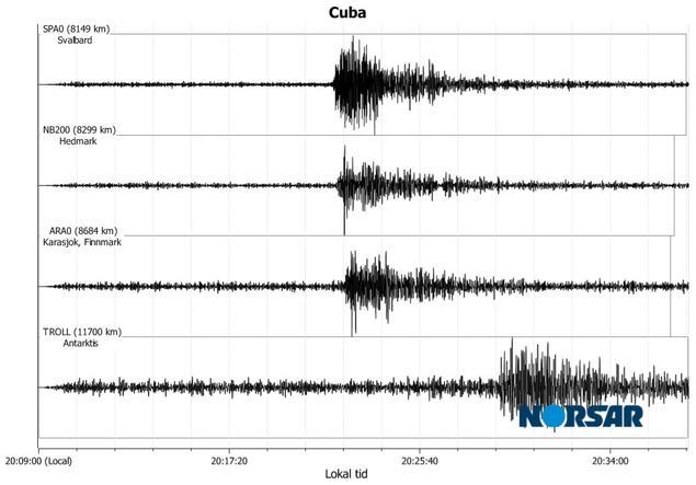 Jordskjelv på Cuba