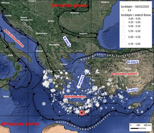 tectonic map crete